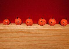 Miniature Halloween Jack o'lantern autumn by AuntElliesMiniatures, $3.00
