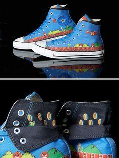 Super Mario Converse Shoes