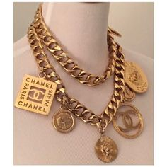 Chanel Vintage Jewelry - Up to off at Tradesy (Page Chanel Necklace, Chanel Jewelry, Fashion Necklace, Gold Jewellery, Chanel Fashion, 90s Fashion, Trendy Fashion Jewelry, Chanel Logo, Vintage Dior