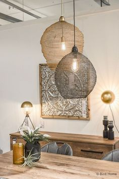 Home-Shopping in Den Haag Home-Trends Bohème und Gold (Binti Basket Lighting, Lighting Ideas, Deco Luminaire, Diy Pendant Light, Pendant Lights, Room Lamp, Interior Decorating, Interior Design, Home Trends