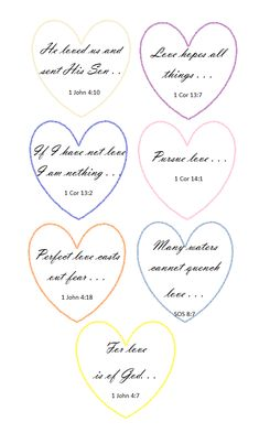 7 Days of Valentines (Love Scriptures) My Funny Valentine, Valentines Art, Saint Valentine, Love Scriptures, Bible Words, Hymn Art, Quilting Quotes, Bible Crafts For Kids, Bible Encouragement