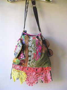 Antique Embroidered bag by AllThingsPretty, via Flickr