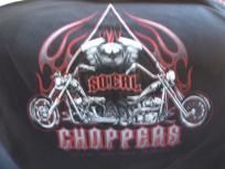 So. Cal Choppers w/twin choppers on a black extra large (XL) tee shirt w/free shipping