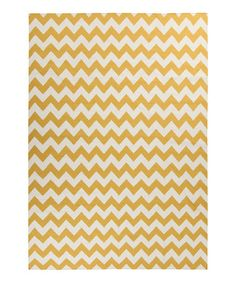 Golden Yellow & Winter White Frontier Rug by Surya