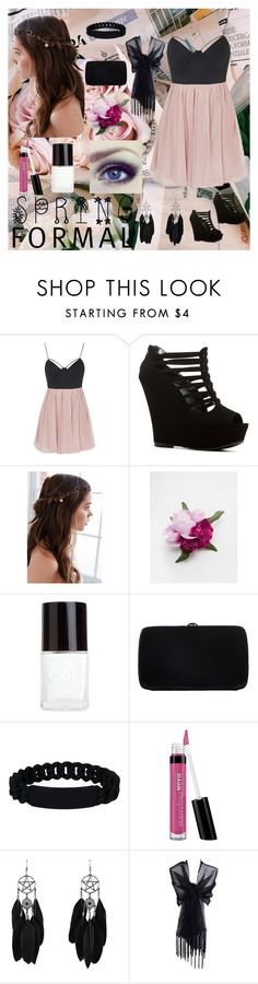 """""""Spring Formal"""" by gamelicker ❤ liked on Polyvore featuring Topshop, REGALROSE, ASOS, Crabtree & Evelyn, Sergio Rossi, Marc by Marc Jacobs and Bare Escentuals"""