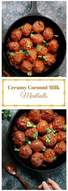 Creamy coconut milk meatballs! Insanely delicious !