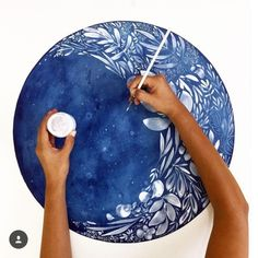 This high quality wall art was-Zunehmender Mond Kunstdruck. This high quality wall art was created with my … quality printing - Watercolor Moon, Watercolor Walls, Watercolor Illustration, Moon Illustration, Watercolor Flowers, Watercolor Paintings, Wall Art Uk, Mural Wall Art, Moonflower