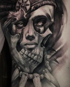 Lessons That Will Get You In The arms of The Man You love Evil Skull Tattoo, Skull Girl Tattoo, Girl Face Tattoo, Sugar Skull Tattoos, Aztec Warrior Tattoo, Aztec Tribal Tattoos, Aztec Art, Sketch Tattoo Design, Tattoo Sketches