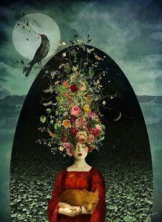 The Ballad of Two Moons - surreal art of Marta Orlowska Art And Illustration, Inspiration Art, Fine Art, Moon Art, Art Design, Surreal Art, Oeuvre D'art, Amazing Art, Fantasy Art