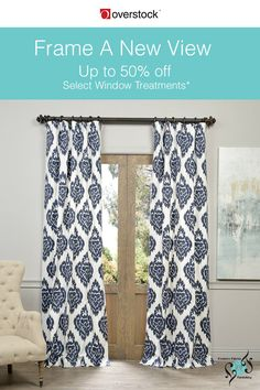 A new set of window treatments can change the look and personality of any room. Put up white sheers to capture the breezy air of summer. Add classic elegance to your decor with silky curtains in the richest colors. If it's time to dress up your windows, check out this stunning curtain collection from Exclusive Fabrics & Furnishings with Up to 50% off Select Window Treatments*.
