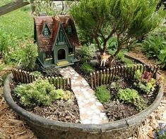 Stunning Diy Fairy Garden Design Ideas To Try This Year - It is a rainy Monday morning. As I was leaving for work, I took our dog for a walk outside and to our surprise a squirrel was on the porch steps. Indoor Fairy Gardens, Fairy Garden Plants, Mini Fairy Garden, Fairy Garden Houses, Miniature Fairy Gardens, Fairies Garden, Miniature Fairies, Potted Garden, Succulents Garden