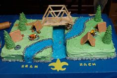 boy scouts blue and gold cake   Blue and Gold Cake   Boy / Cub Scout / Blue & Gold