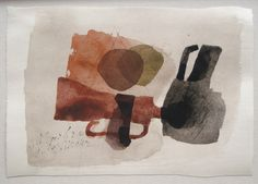 Julius Bissier  3 Mai 62, 1962   Watercolor on Paper   6 3/4 x 9 1/2 inches
