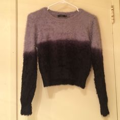 Millau Ombre Cropped Sweater Brand new. With out tags. The fabric is super soft! LF Sweaters Crew & Scoop Necks