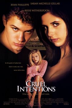 Cruel Intentions directed by Roger Kumble, 1999 - Novel by Choderlos de Laclos #choderlosdelaclos