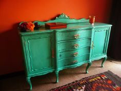 Aparador restaurado Old Furniture, Queen Anne, Ideas Para, Buffet, Cabinet, Storage, Home Decor, Refinished Furniture, Sideboard