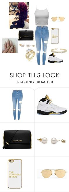 """""""Untitled #13"""" by jezellee ❤ liked on Polyvore featuring River Island, BEIJA, NIKE, Michael Kors, BaubleBar, Linda Farrow and Allurez"""