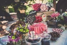 tabla de chuches en las bodas