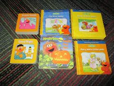 LOT OF 6 MINI SESAME STREET BOARD BOOKS, READ ALONG WITH ELMO + MORE, GREAT READ