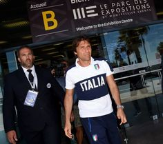 Head coach Italy Antonio Conte of Italy after his last press conference at Casa Azzurri on July 03, 2016 in Montpellier, France.