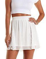 Chiffon & Lace Skater Skirt
