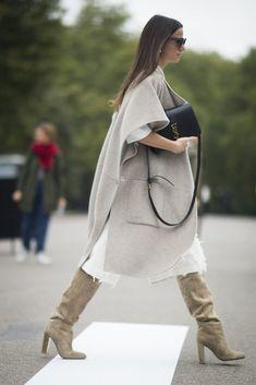 London Fashion Week, Day 4: Zina Charkoplia wearing Tibi.