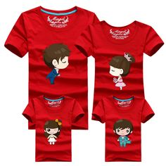 1psc Family Look T Shirts 16 Colors 2016 Brand Summer Family Matching Clothes Dad & Mom & Son & Daughter Cartoon Family Outfits #>=#>=#>=#>=#> Click on the pin to check out discount price, color, size, shipping, etc. Save and like it!