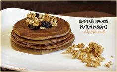 Chocolate Pumpkin Protein Pancakes