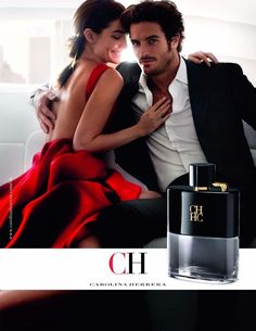 Lily Aldridge and Justice Joslin by Mario Testino for the Carolina Herrera CH Privé Men Fragrance Spring Summer 2017 Campaign