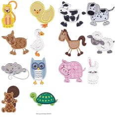 Country Animal Stixs Applique at Bunnycup Embroidery.