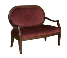 Burnished Cherry Settee With Burgundy Fabric - love it