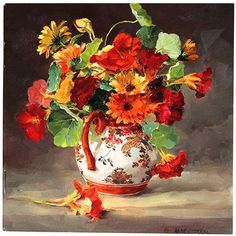 Notebook - Marigolds and Nasturtiums | Mill House Fine Art – Publishers of Anne Cotterill Flower Art