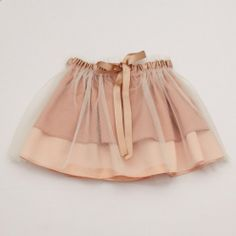 Party Tutu Skirt – Vintage Pink and Cream Net