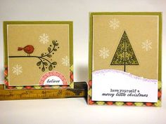 Christmas cards by Heather Nichols for Papertrey Ink (October 2011).