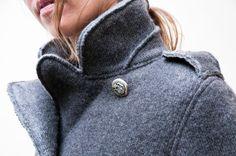 Corteccia Wool Peacoat