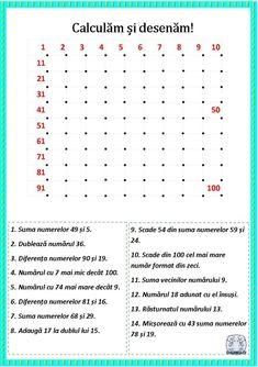 Calculăm și desenăm! Fișe de lucru cu operații matematice și desen Math Humor, Funny Math, School Lessons, Kids Learning, Worksheets, Classroom, Education, Logo, Calculus