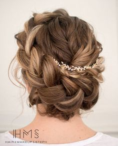 Peachy Side French Braid Low Wavy Bun Wedding Hairstyle Updo Wedding Short Hairstyles For Black Women Fulllsitofus