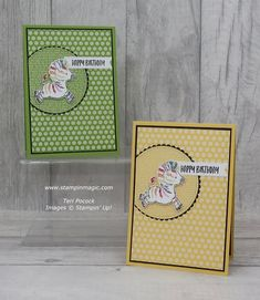 Kids Birthday Cards, Animal Cards, Pretty Cards, Card Sketches, Zebras, Kids Cards, Botanical Prints, Stampin Up Cards, Rainbow Colors