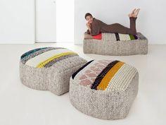 Wool pouf GLOBO | Pouf - GAN By Gandia Blasco