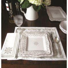 Le Cadeaux Melamine 14 Piece Dinnerware Set - Bella White www.lamaisonware.com
