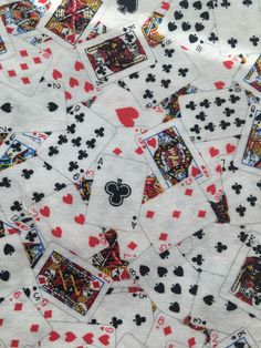 Having a card party? Excited to share the latest addition to my #etsy shop: Playing Cards Aces, Kings, Queens, Jacks, Spades, hearts, diamonds & Clubs (6) Cotton Fabric Dinner Napkins http://etsy.me/2C94KKL #housewares #white #square #black #cotton #aces #kings #queens