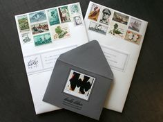 get creative with envelope and stamp orientation