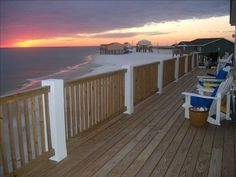 Dauphin Island, Alabama - elevated houses right on the beach.  Great vacation spot!