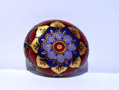 Small Hand Painted Rock  , Magic Rock, Pebble painting, Mandala Style painting, Positive thinking Rock , Mandala stone, Gratitude Rock