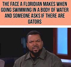 M<3 Florida Funny, Florida Humor, Florida Hurricane, Florida Living, Adult Humor, Funny Pictures, Funny Memes, Swimming, Face