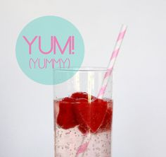 Valentine's day strawberry heart ice drink