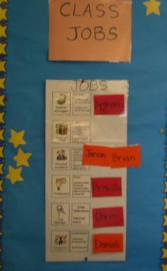 I liked this classroom job chart  -CC