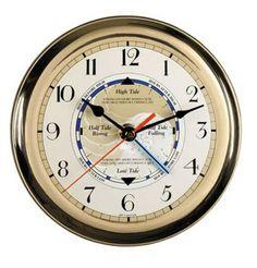 Nautical home decor wall clock