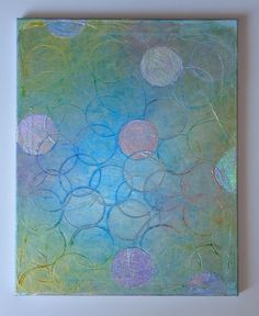 abstract acrylic finishes | Reserved for Lisa Abstract Acrylic Original Textured Painting Circles ...