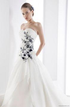 Black and White Wedding Dress #black